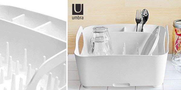 Escurreplatos Umbra Tub en color blanco chollo en Amazon