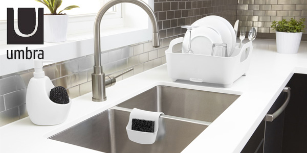 Escurreplatos Umbra Tub en color blanco chollazo en Amazon