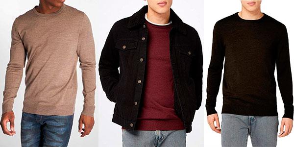 Suéter Jack & Jones Mark Knit Crew de lana para hombre barato