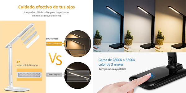 lámpara flexo LED regulable VicTsing oferta Amazon