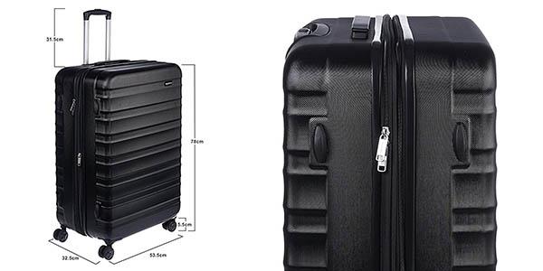 maleta AmazonBasics resistente de gran capacidad oferta