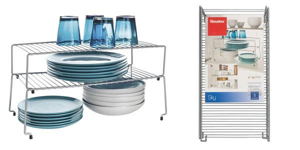 Metaltex Sky estante apilable para cocina barato en Amazon