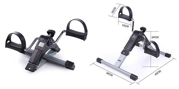 minibicicleta AGM plegable para musculatura de piernas y brazos chollo