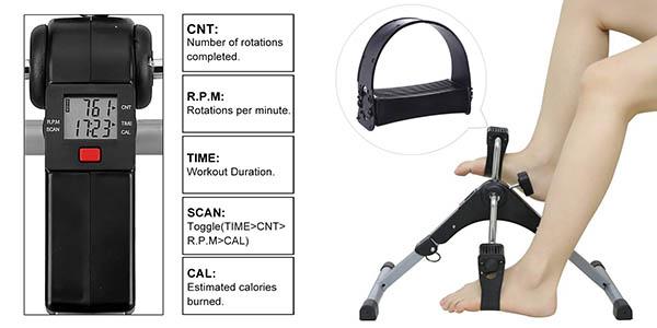 minibicicleta estática AGM para brazos y piernas con cupón descuento en Amazon
