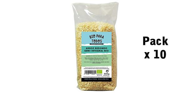 Pack x10 Paquetes Bio para todos Arroz Redondo Semi-Integral de 500 gr/ud barato en Amazon