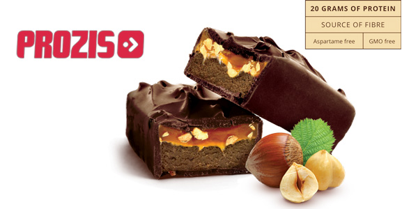 Pack x12 Barritas de proteínas Prozis Protein Gourmet Bar x80 gr/ud sabor chocolate con leche chollo en Amazon