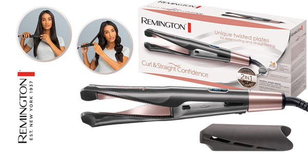 Alisador y rizador Remington Curl & Straight Confidence S6606 barato en Amazon