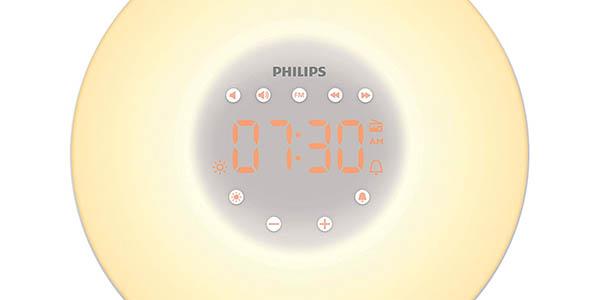 reloj despertador lámpara Philips Wake-up HF3506/05 oferta