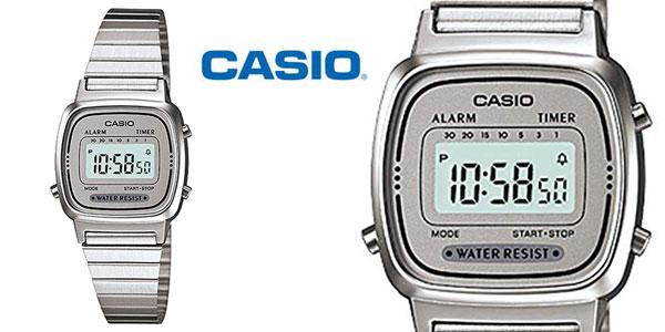ccc817c9646f Chollazo Reloj Digital CASIO LA-670WA-7 para mujer por sólo 20