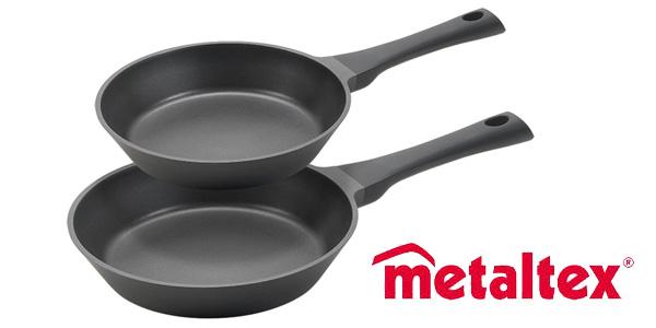 Set 2 sartenes Metaltex XPERT Full Induction de 20 y 24 cm chollo en Amazon