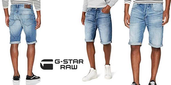 8d7caeb03923 Chollazo Pantalones cortos vaqueros G-Star Raw para hombre por sólo ...
