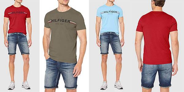 camiseta de algodón Tommy Hilfiger oferta