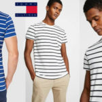 Camiseta manga corta Tommy Hilfiger Stretch Slim Fit tee estampada a rayas para hombre barata en Amazon