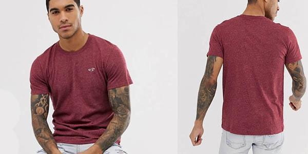 camisetas Hollister algodón para hombre oferta