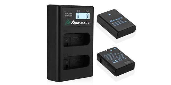Powerextra Batería Nikon EN EL14 y EN-EL14a de Repuesto con Cargador Inteligente barato en Amazon
