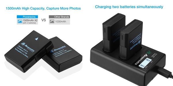 Powerextra Batería Nikon EN EL14 y EN-EL14a de Repuesto con Cargador Inteligente chollo en Amazon