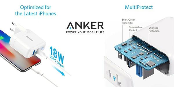 Cargador de pared Anker USB C con Power Port PD de 30 W y carga ultra rápida chollo en Amazon