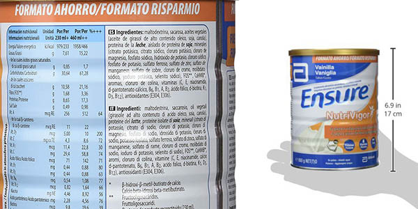 complemento alimenticio Ensure Nutrivigor vainilla oferta