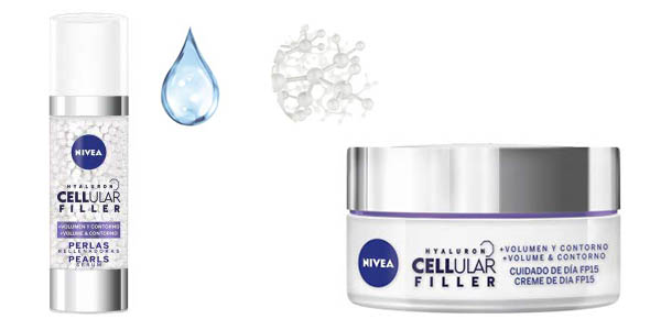 crema facial de día y sérum Nivea Hyaluron Cellular Filler chollo