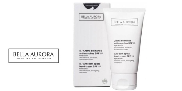 Crema de Manos Anti-Manchas Bella Aurora M7 con SPF 15 barata en Amazon
