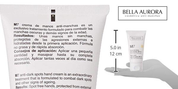 Crema de Manos Anti-Manchas Bella Aurora M7 con SPF 15 chollo en Amazon