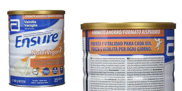 Ensure Nutrivigor vainilla complemento alimenticio barato