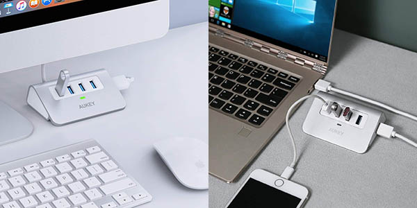 hub Aukey CB-H5-ES-P USB 3.0 barato