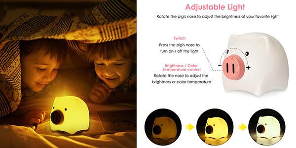 lámpara antimiedos infantil KidoME de diseño en silicona oferta