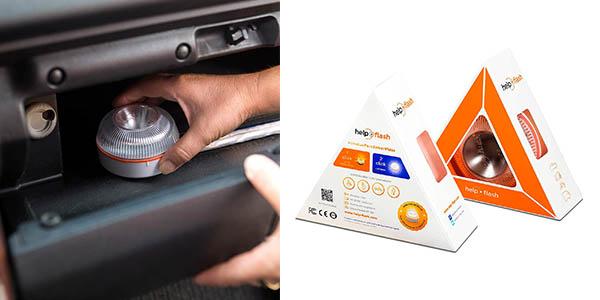luz de emergencia para coche homologada por la DGT Help Flash para accidentes y averías oferta