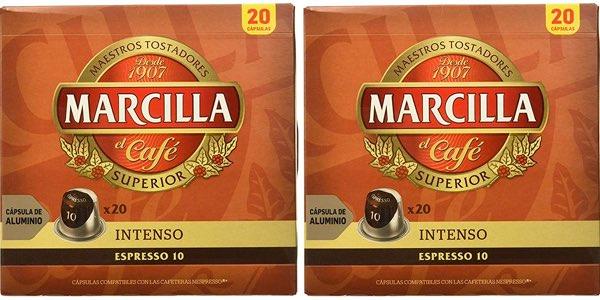 Marcilla Intenso Nespresso cápsulas baratas