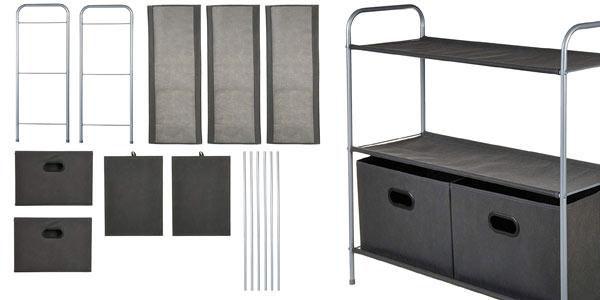 Organizador de armarios AmazonBasics con cestos en oferta en Amazon