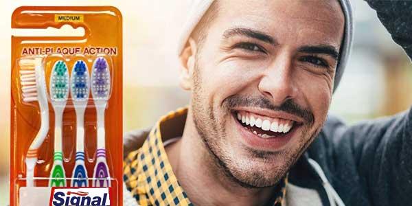 Signal Pack x4 Cepillos de dientes de 4 unidades (Total: 16 cepillos) chollo en Amazon