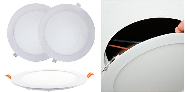 Pack de 2 paneles Led Atomant Downlight de 18 W barato