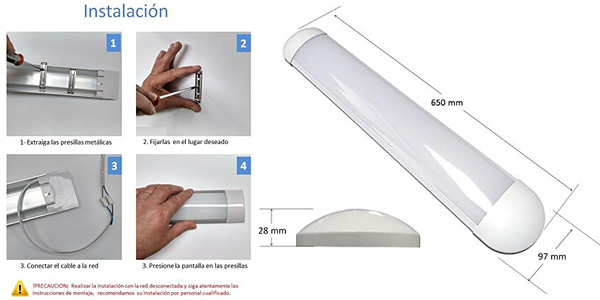 Luz LED con pantalla integrada Atomant Plus de 60 cm y 36 W chollazo en Amazon