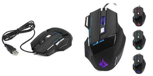 Ratón gaming USB con teclas programables y DPI ajustables barato en Amazon
