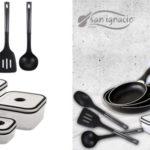 Juego San Ignacio Navy Black de 3 sartenes+ 4 recipientes + 3 utensilios baratos en Amazon