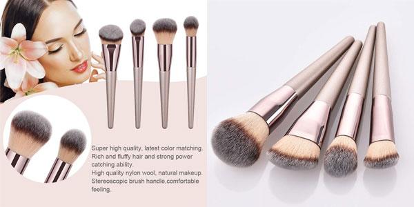 Set 4 Brochas Everpert para Maquillaje Facial baratas en Amazon