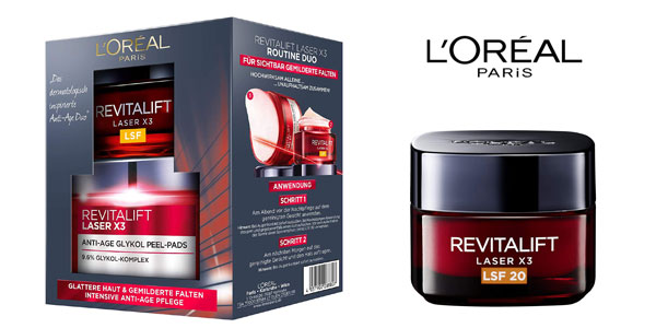 Set duo Revitalift Laser X3 rutina Cuidado Facial Anti-Edad y Anti-manchas L 'Oréal Paris barato en Amazon