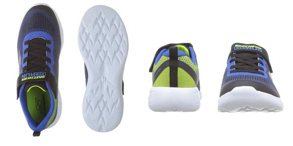 Zapatillas infantiles Skechers Go Run 600 Farrox en oferta en Amazon