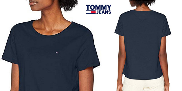exuberante en diseño Zapatillas 2018 Super descuento Chollo Camiseta Tommy Jeans Soft para mujer por sólo 17,95 ...
