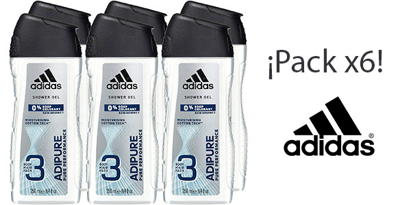 Chollo Pack Gel de ducha Adidas Adipure para hombre (250 ml)