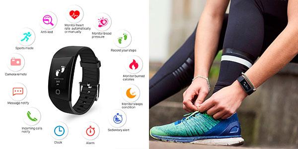 Chollo Pulsera de actividad Uten Fitness impermeable con 14 modos