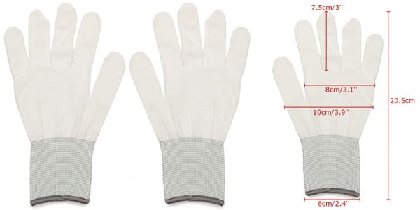 Pack x6 pares de guantes de protección de seguridad de algodón Pigupup chollo en Amazon