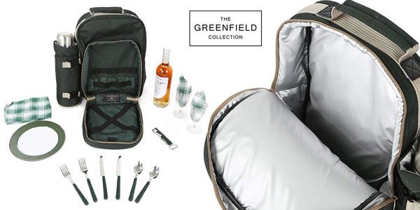 Mochila de Picnic i-koncepts Limited Greenfield Collection BP2DGH Luxury para dos personas chollo en Amazon