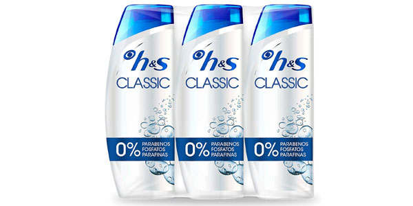 Pack x3 Champús anticaspa Head & Shoulders Classic de 540 ml baratos en Amazon