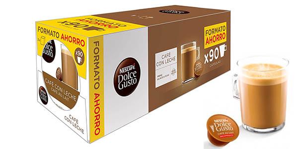 Chollo Pack de 90 cápsulas Café con leche Nestlé Dolce Gusto