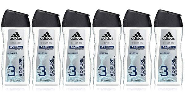 Pack Gel de ducha Adidas Adipure para hombre (250 ml) barato