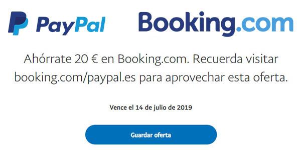 PayPal Booking promoción descuento junio 2019
