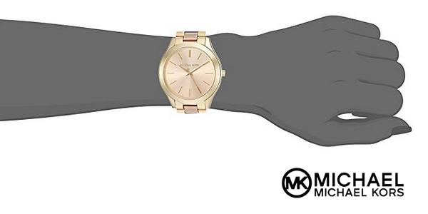 e7b7883b0608 Reloj analógico Michael Kors MK3493 Slim Runway para mujer chollazo en  Amazon
