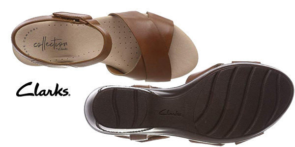 Sandalias con plataforma plana Clarks Lynette Deb para mujer chollo en Amazon